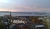 Already a hint of the Dundee morning colours.